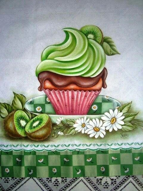 Cupcake de Kiwi