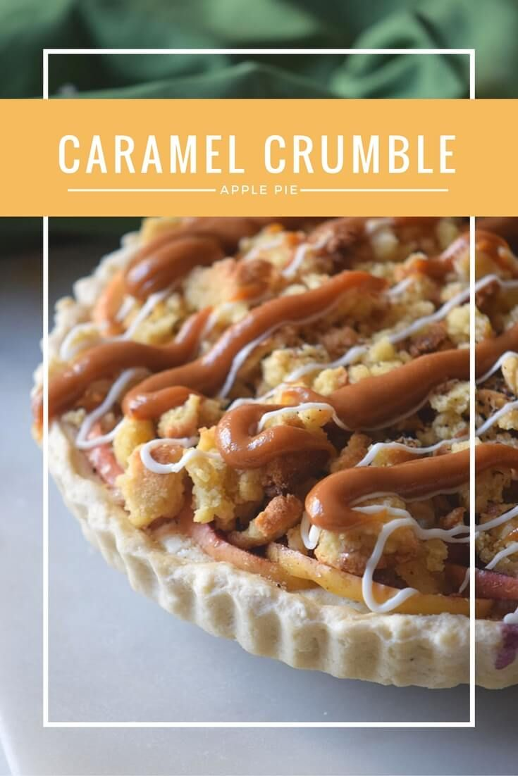 Check out this Caramel Crumble Apple Pie recipe. The perfect homemade pie with a kick of caramel to make it the most delicious pie on your dessert table! via @merry120