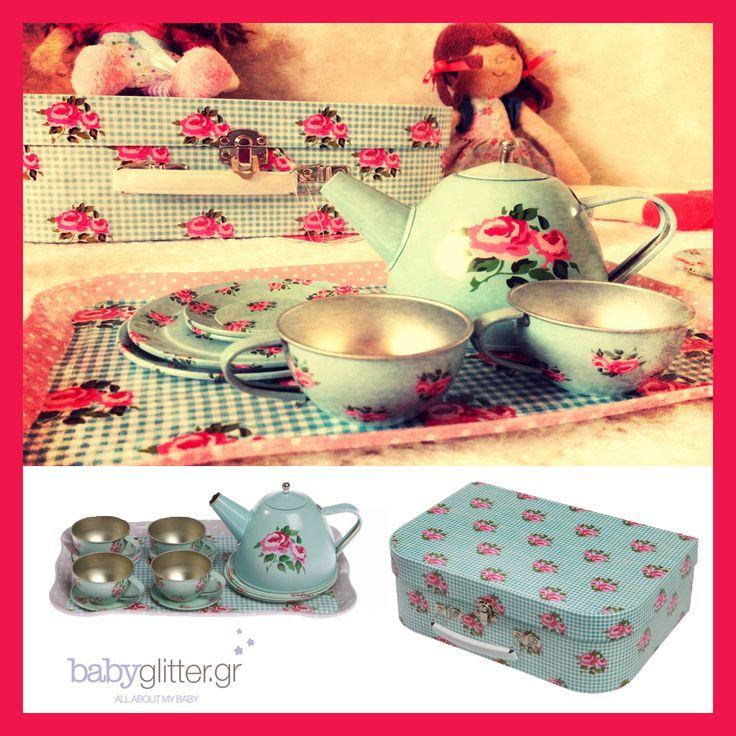 TeaTime! Το πιο γλυκό σετ τσαγιού για την μικρή σας και τις φίλες της! http://babyglitter.gr/3849-balitsaki-set-tsagioy.html