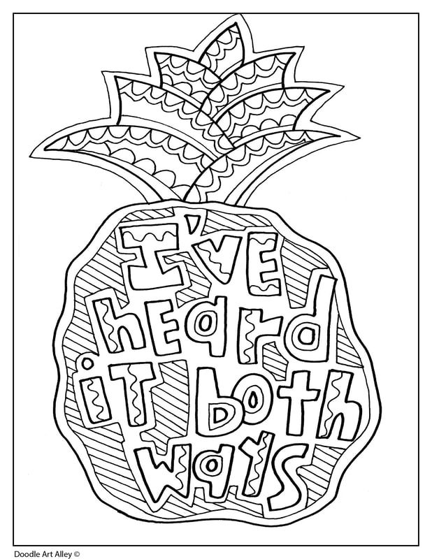 Quote Coloring Pages Doodle Art Alley With Images Quote