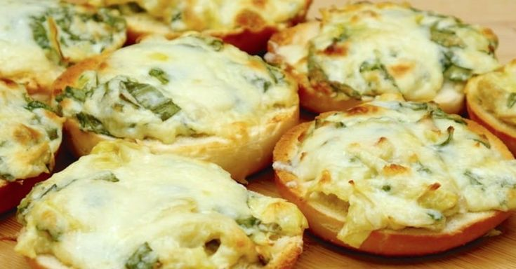 """***Spinach Artichoke Dip & Bagels, AKA """"Italian Crazy Bread"""":  This is awesome dip & so easy to make. There is a typo in this recipe. It is 1-2Tbs of Dijon mustard...not 12... unless you REALLY like mustard. LoL"""