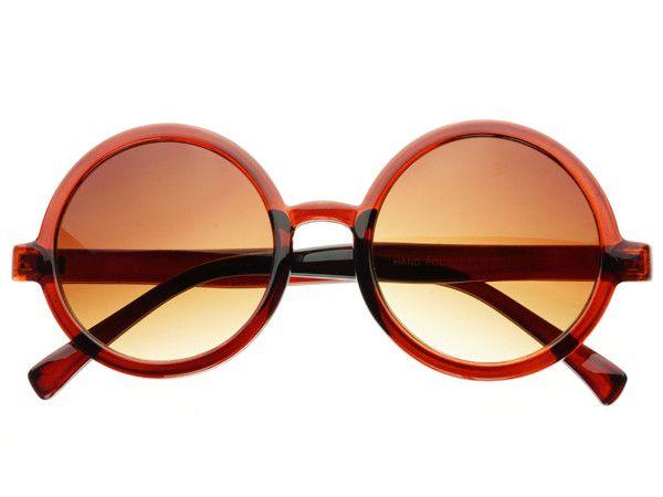 Vintage Retro Circle Round Sunglasses Brown R643