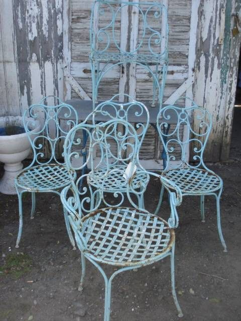 Set of garden chairs from the '30s +Would love to find some like these for my kitchen.