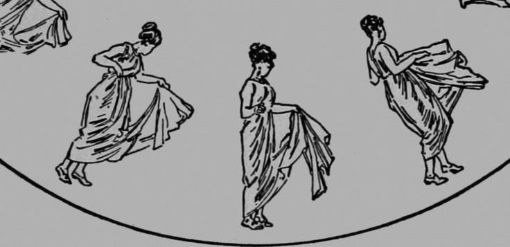 Zoopraxography Grecian Dancing Girls,  1893, public domain via Wikimedia Commons.