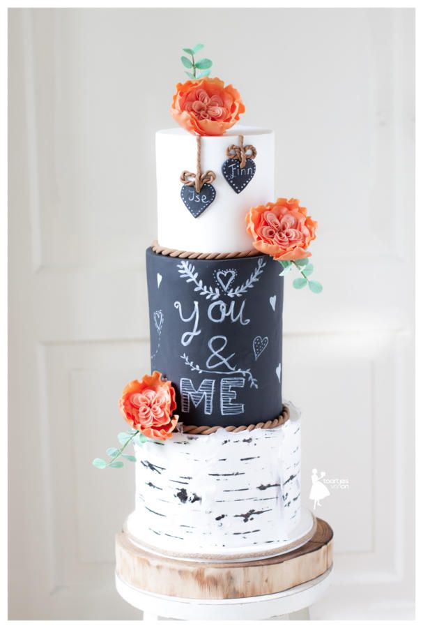Birch tree weddingcake by Taartjes van An (Anneke) - http://cakesdecor.com/cakes/245894-birch-tree-weddingcake