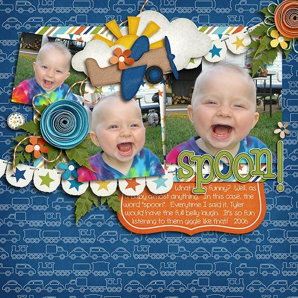 Use with Carta Bella - Digital Scrapbook Kit - About A Boy | Chelle's Creations