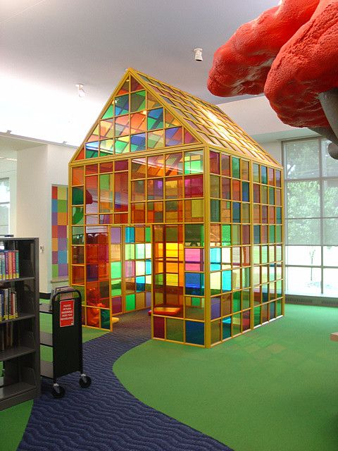 Central Library Children's Area by, Nancy Cheairs - Memphis TN **  wouldn't last two mins but it is beautiful