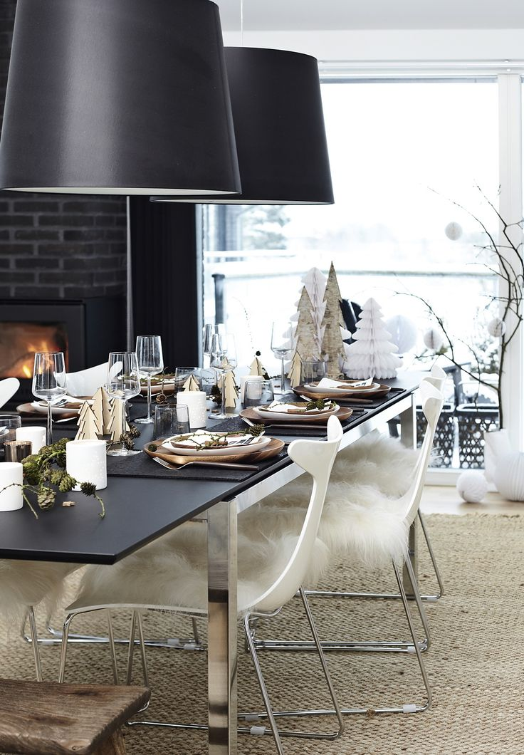black and white dining room, scandinavian dining room, danish