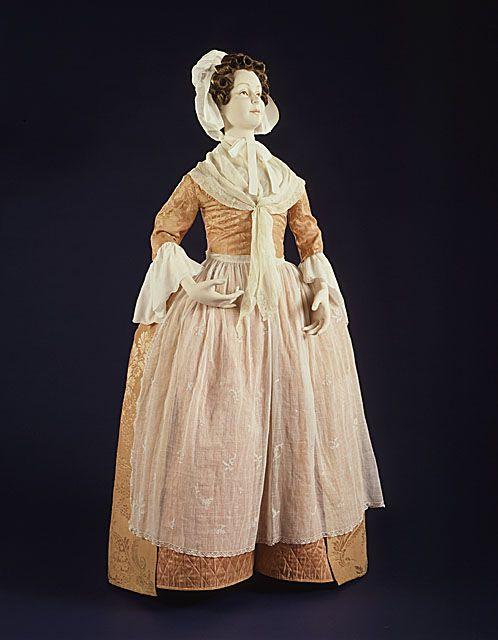 England, Spitalfields  Woman's Dress (Robe à l'Anglaise), circa 1760
