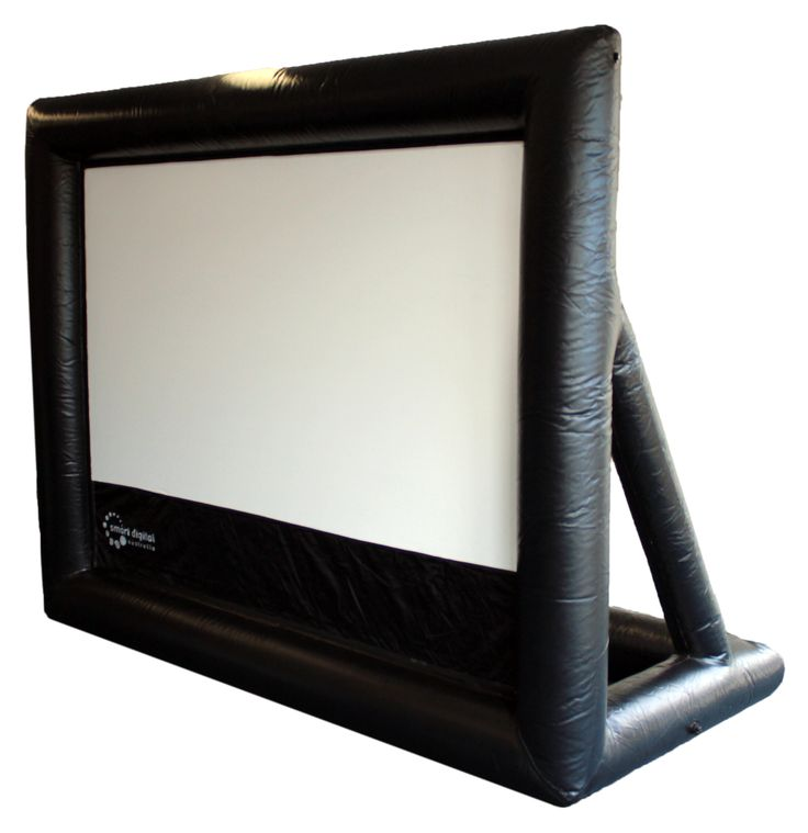 3 metre inflatable screen with A-frame for support and stability. HandiTheatre series with sealed screen - no blower noise during the movie.