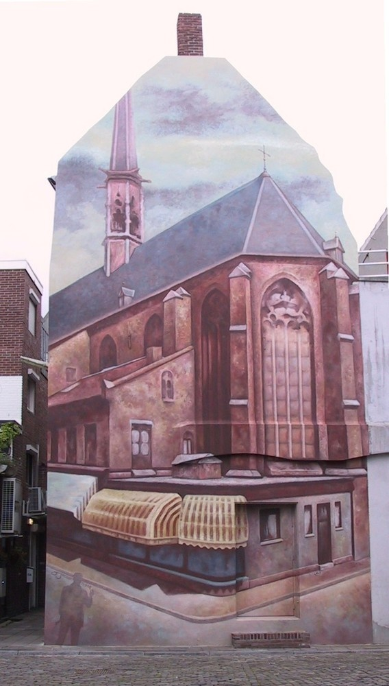 Venlo mural painting (not strange in Venlo)