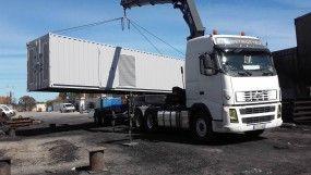 Transformation d'un conteneur 40 pieds DRY pour une centrale hydraulique et un poste de sécurité