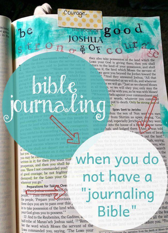 "Bible Journaling without a ""Journaling Bible"""