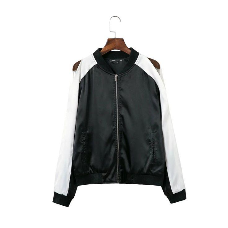 Bomber Jacket Women Coat jackets Women casaco Female Baseball Jacket Veste Autumn sexy strapless coats and jackets