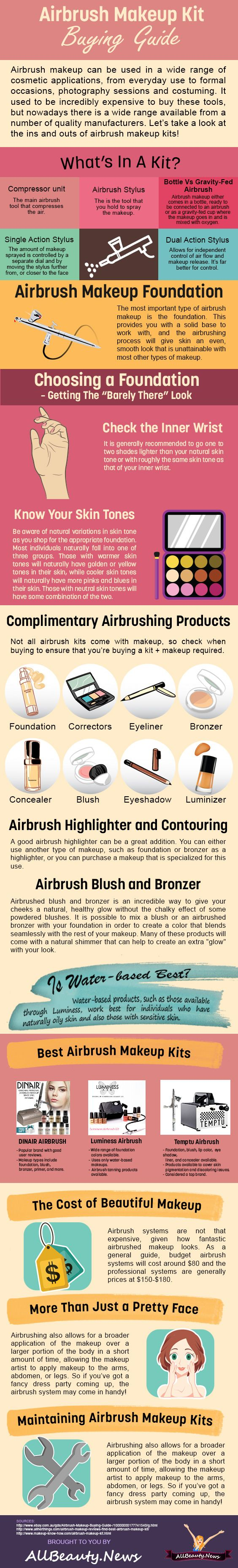 When it comes to makeup application, nothing creates a smoother finish than airbrush makeup; It really is the best makeup option, which is why it is so popular with celebrities and everyday people alike. When it comes to finding a airbrush makeup kit for you, it is important to do your research because many of the top models and cost up to $200. It's definitely a decision you want to get right, so that you find a model that suits you but now and future.