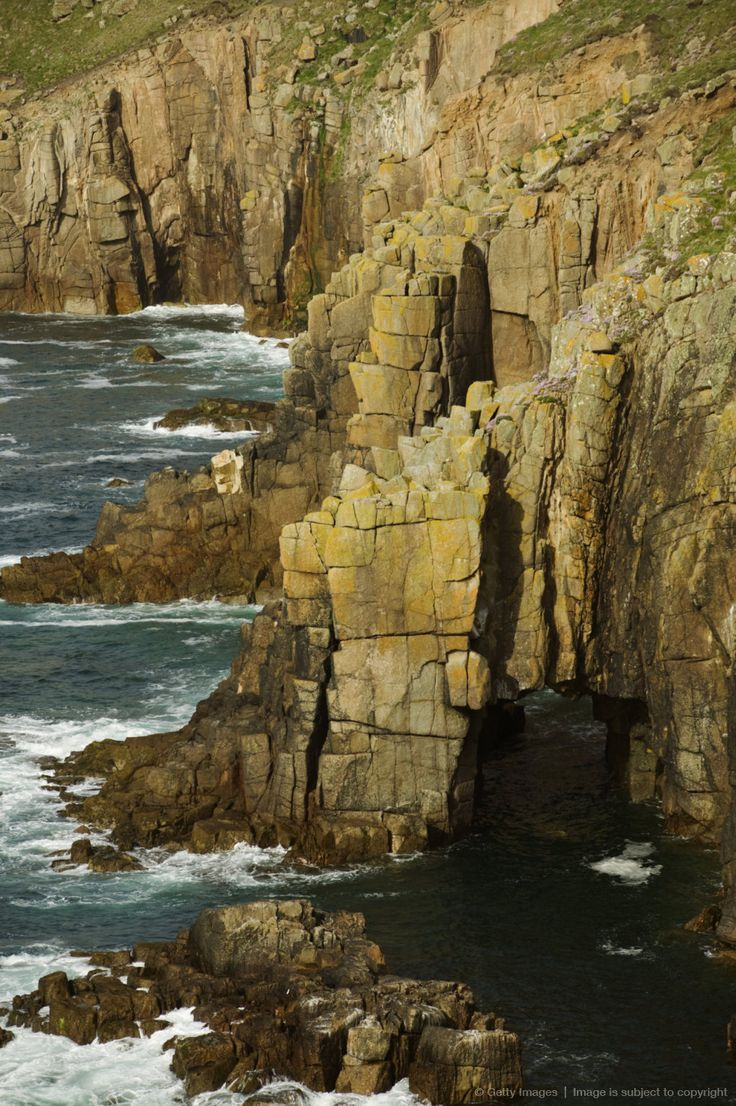 Image detail for -Granite cliffs and archway, Land's End, Cornwall, Great Britain.