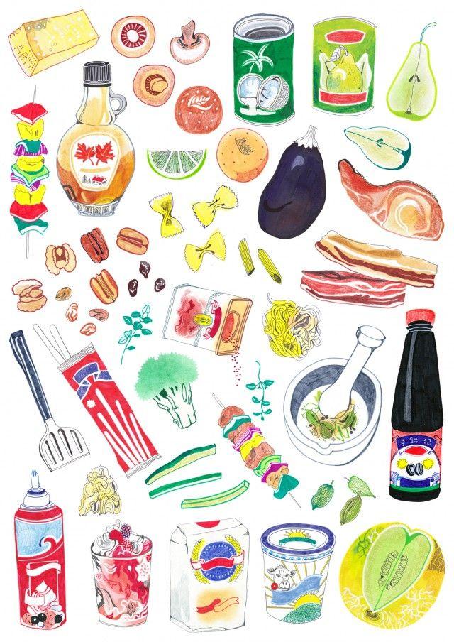 Food and drink illustration by Hennie Haworth