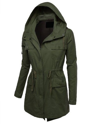9Xis Women's Military Anorak Jacket with Pockets $28.99 (31% OFF)