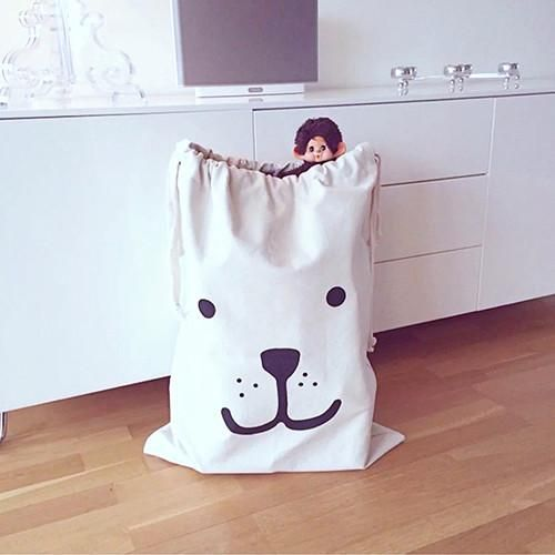 Useful Baby Toys Pouch Canvas Storage Bags Cute Bear Batman Laundry Bag