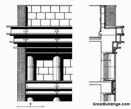 Great Buildings Drawing - Hotel Il Palazzo Aldo Rossi