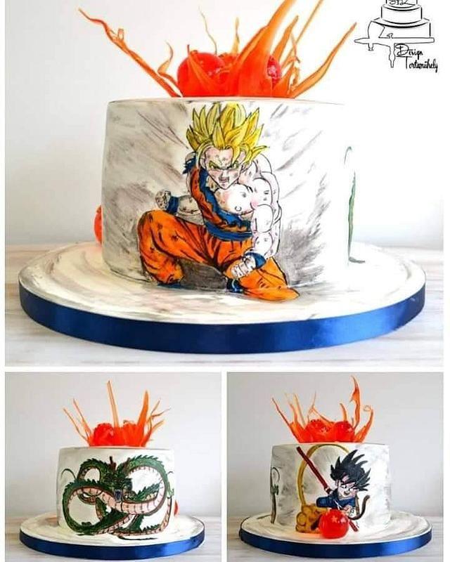 Dragon Ball Cake Cake By Krisztina Szalaba Dragonball Z Cake Anime Cake Goku Birthday