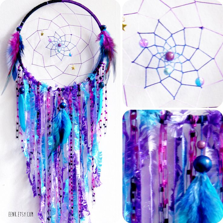 Cosmic Galaxy Native Style Large Woven Dream Catcher by eenk