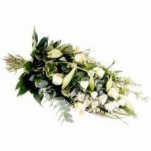 Rouwboeket white deluxe