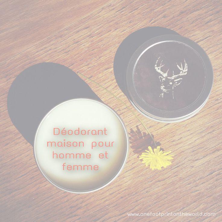Une recette de déodorant maison facile à réaliser, écologique et économique, déclinée en versions homme et femme. Idéale pour se lancer à moindre frais et en toute simplicité dans l'aventure de la fabrication maison de cosmétiques ! ¦ One Footprint On The World #slowcosmetique #zerodechet #diy #deodorantmaison #naturel