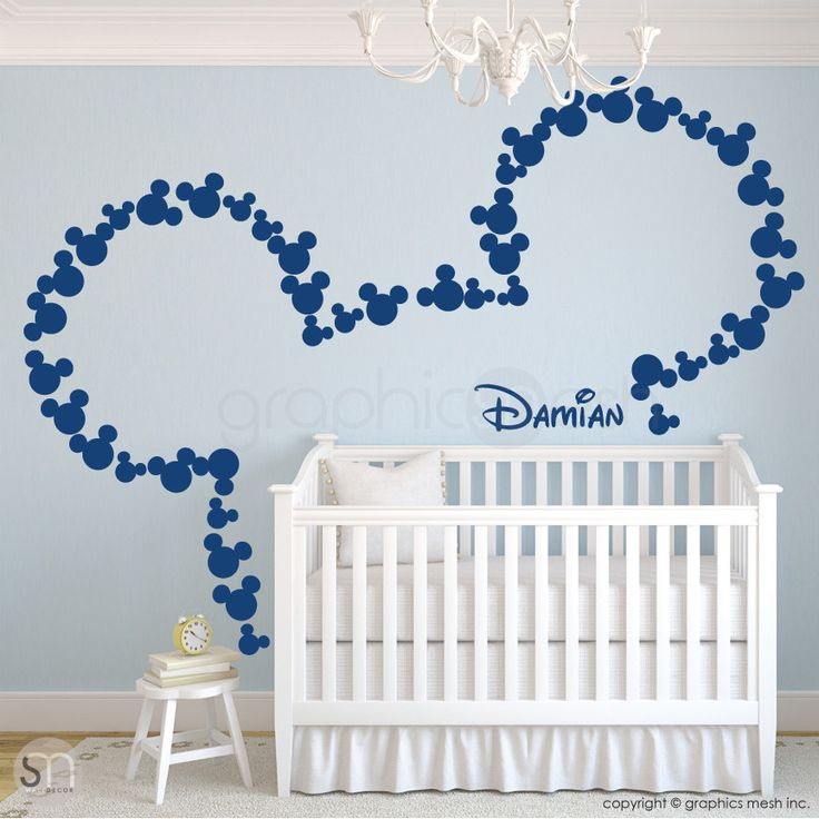 MICKEY MOUSE EARS WITH PERSONALIZED BABY NAME blue