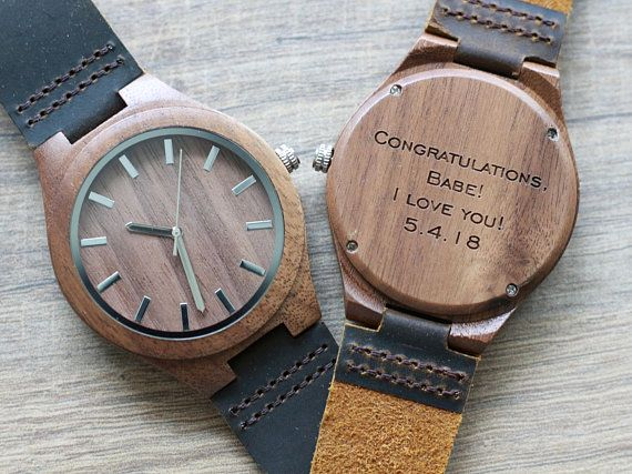 Wood Watch Engraved Wooden Watch Mens Wooden Watch Wedding Etsy Wooden Watch Engraved Watch Engraving Ideas Watch Engraving