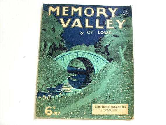 1930s sheet music  Memory Valley by Cy Lowe by RetroDelia on Etsy