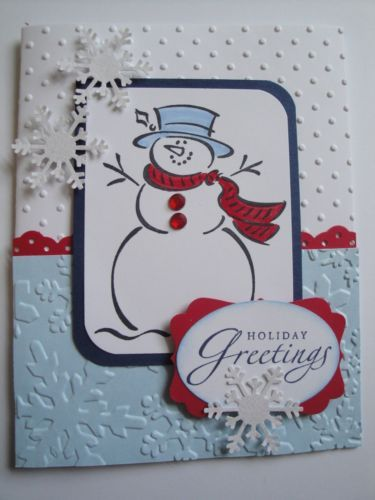 FROSTY Christmas Card Kit (4 cards), Stampin Up