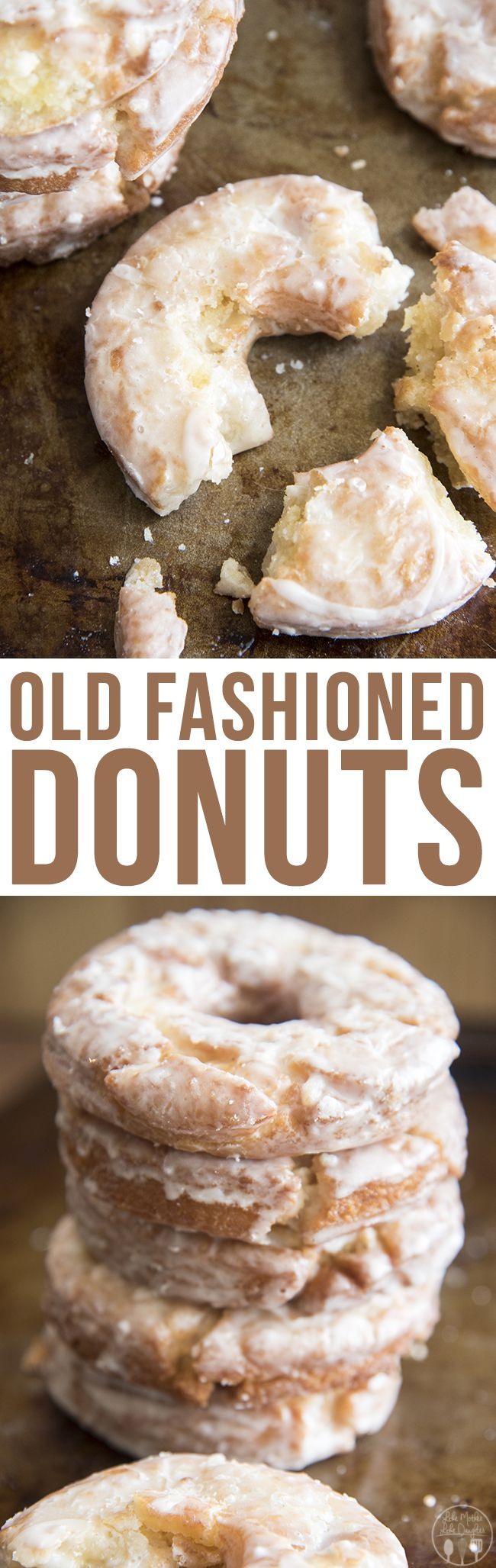 Old Fashioned Donuts - These delicious have a soft cakey center, crunchy exterior and taste just like your favorite old fashioned donuts from a bakery!