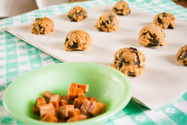 "Salted Caramel Chocolate Chunk Cookies!!! OH YEAH!!!!! ""B"""