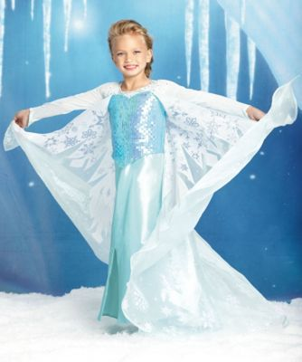the ultimate collection elsa girls costume - Free at last from the need to conceal her powers, Elsa unleashes her magic to create a magnificent gown befitting the new queen that she is. #frozen #halloween #girlscostumes