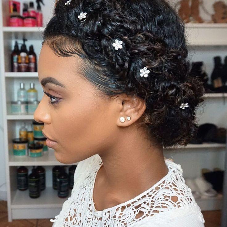 Black Wedding Hairstyles With Crown