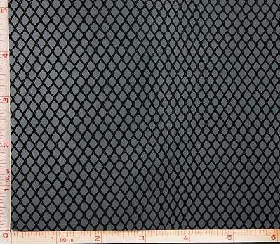 Black Big Hole Mesh Fabric 2 Way Stretch by FabricAndSewing
