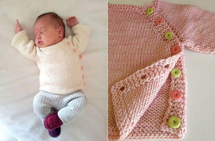 puerperium-Free infant sweater pattern