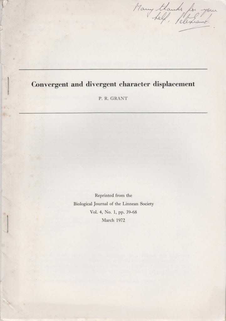 Convergent and Divergent Character Displacement