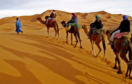 Morocco ~ the beautiful colors were amazing. I love my rug from there too