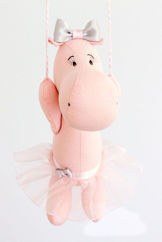 Baby Mobile Hot Air Balloon Hippo Nursery Decor Travel