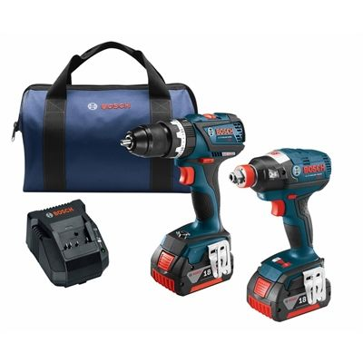 Bosch Bosch 18V Ec Brushless 2-Tool Battery Voltage Lithium Ion (Li-ion) Brushless Motor Cordless Combo Kit with Soft Case (CLPK251-181)