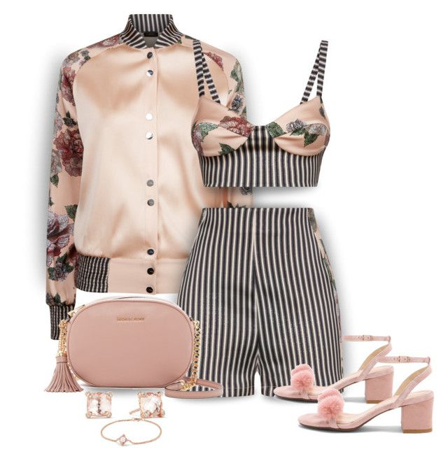 """""""Floral, Stripes, and Fun"""" by onesweetthing on Polyvore featuring La Perla, MICHAEL Michael Kors, Raye, David Yurman, michaelkors, davidyurman, stripeshorts, LaPerla and rayexrevolve"""