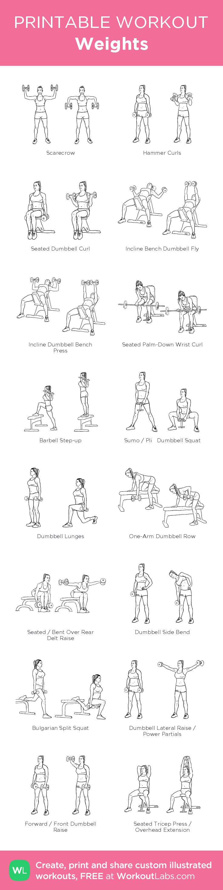 Weights: my visual workout created at WorkoutLabs.com • Click through to customize and download as a FREE PDF! #customworkout