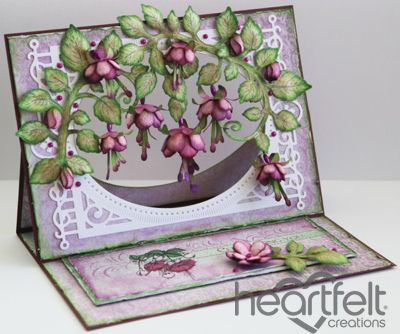 Heartfelt Creations | Cascading Fuchsia Easel Card
