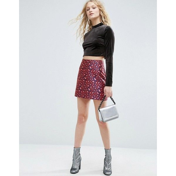 ASOS Mini Skirt in Jacquard Animal Print (43 CAD) ❤ liked on Polyvore featuring skirts, mini skirts, multi, mini skirt, jacquard skirt, animal print skirt, asos skirts and high waisted short skirts