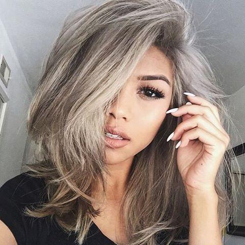 blonde grey hair