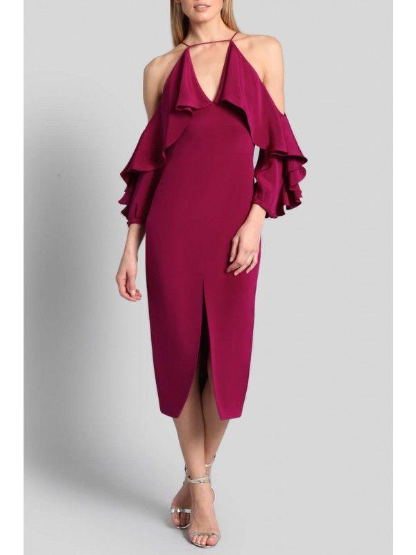 761c31e7a855 Dahlia Aura Cold Shoulder Dress | delete | Dresses, Cold shoulder ...