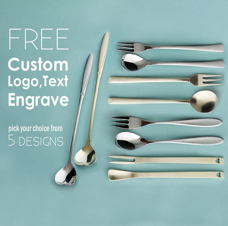 30 sets Gold or Silver Cutlery – Free CUSTOM LOGO …