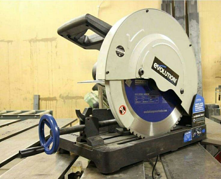 dry cut metal saw. if you need serious capacity in a dry cut metal saw, look no further than the evolution it can bigger steel any other saw this class. l